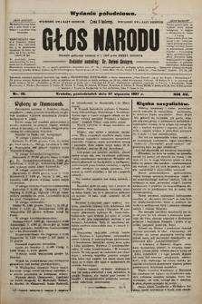 Głos Narodu : dziennik polityczny, założony w r. 1893 przez Józefa Rogosza (wydanie poranne). 1907, nr42