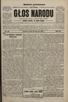 Głos Narodu : dziennik polityczny, założony w r. 1893 przez Józefa Rogosza (wydanie poranne). 1907, nr46