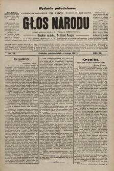 Głos Narodu : dziennik polityczny, założony w r. 1893 przez Józefa Rogosza (wydanie poranne). 1907, nr52