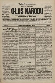 Głos Narodu : dziennik polityczny, założony w r. 1893 przez Józefa Rogosza (wydanie wieczorne). 1907, nr61