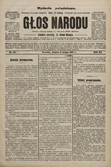 Głos Narodu : dziennik polityczny, założony w r. 1893 przez Józefa Rogosza (wydanie poranne). 1907, nr62