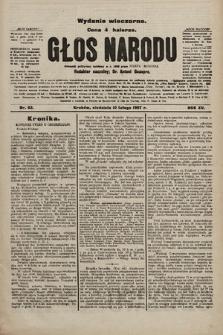 Głos Narodu : dziennik polityczny, założony w r. 1893 przez Józefa Rogosza (wydanie wieczorne). 1907, nr63