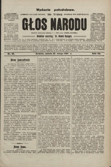 Głos Narodu : dziennik polityczny, założony w r. 1893 przez Józefa Rogosza (wydanie poranne). 1907, nr86