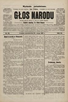 Głos Narodu : dziennik polityczny, założony w r. 1893 przez Józefa Rogosza (wydanie poranne). 1907, nr88