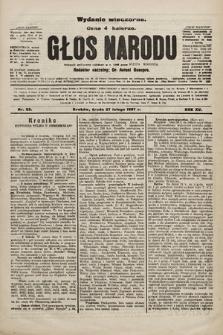 Głos Narodu : dziennik polityczny, założony w r. 1893 przez Józefa Rogosza (wydanie wieczorne). 1907, nr93