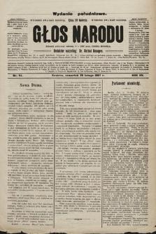 Głos Narodu : dziennik polityczny, założony w r. 1893 przez Józefa Rogosza (wydanie poranne). 1907, nr94