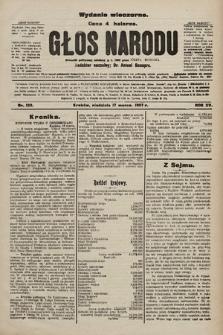 Głos Narodu : dziennik polityczny, założony w r. 1893 przez Józefa Rogosza (wydanie wieczorne). 1907, nr123
