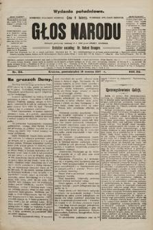 Głos Narodu : dziennik polityczny, założony w r. 1893 przez Józefa Rogosza (wydanie poranne). 1907, nr124