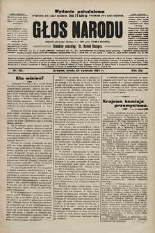 Głos Narodu : dziennik polityczny, założony w r. 1893 przez Józefa Rogosza (wydanie poranne). 1907, nr181