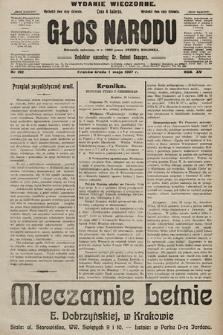 Głos Narodu : dziennik polityczny, założony w r. 1893 przez Józefa Rogosza (wydanie wieczorne). 1907, nr192