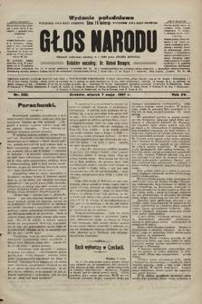 Głos Narodu : dziennik polityczny, założony w r. 1893 przez Józefa Rogosza (wydanie poranne). 1907, nr203