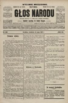 Głos Narodu : dziennik polityczny, założony w r. 1893 przez Józefa Rogosza (wydanie wieczorne). 1907, nr208