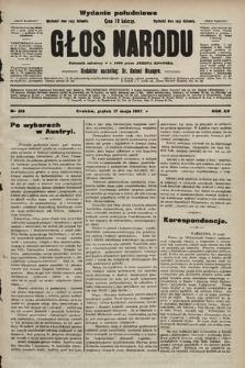 Głos Narodu : dziennik polityczny, założony w r. 1893 przez Józefa Rogosza (wydanie poranne). 1907, nr218