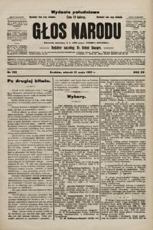 Głos Narodu : dziennik polityczny, założony w r. 1893 przez Józefa Rogosza (wydanie poranne). 1907, nr222