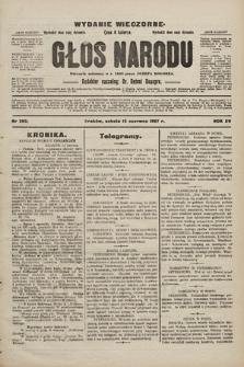 Głos Narodu : dziennik polityczny, założony w r. 1893 przez Józefa Rogosza (wydanie wieczorne). 1907, nr263
