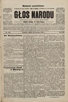 Głos Narodu : dziennik polityczny, założony w r. 1893 przez Józefa Rogosza (wydanie poranne). 1907, nr276