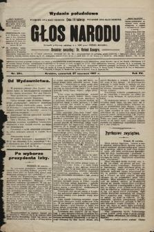 Głos Narodu : dziennik polityczny, założony w r. 1893 przez Józefa Rogosza (wydanie poranne). 1907, nr284