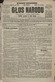 Głos Narodu : dziennik polityczny, założony w r. 1893 przez Józefa Rogosza (wydanie wieczorne). 1907, nr285