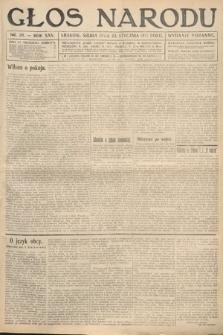 Głos Narodu (wydanie poranne). 1917, nr20