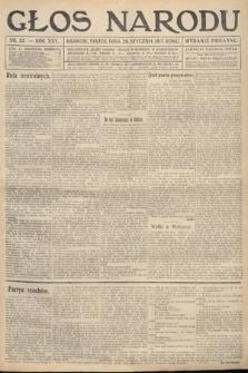 Głos Narodu (wydanie poranne). 1917, nr22