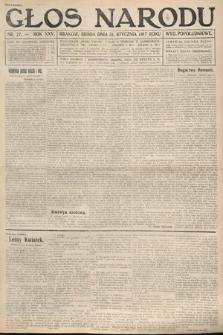 Głos Narodu (wydanie popołudniowe). 1917, nr27