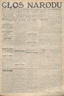 Głos Narodu (wydanie popołudniowe). 1917, nr34