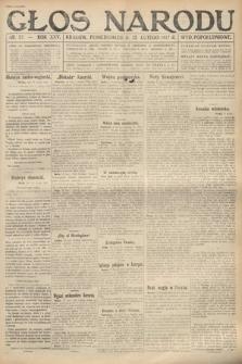 Głos Narodu (wydanie popołudniowe). 1917, nr37
