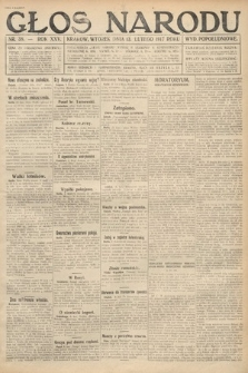 Głos Narodu (wydanie popołudniowe). 1917, nr38