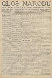 Głos Narodu (wydanie poranne). 1917, nr38