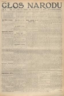 Głos Narodu (wydanie popołudniowe). 1917, nr41
