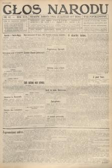 Głos Narodu (wydanie popołudniowe). 1917, nr42