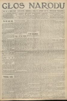 Głos Narodu (wydanie poranne). 1917, nr42