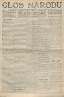 Głos Narodu (wydanie poranne). 1917, nr43