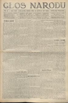 Głos Narodu (wydanie poranne). 1917, nr44