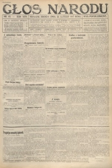Głos Narodu (wydanie popołudniowe). 1917, nr45