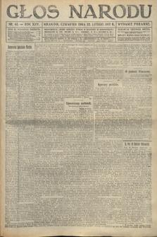Głos Narodu (wydanie poranne). 1917, nr45