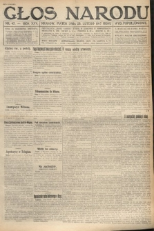 Głos Narodu (wydanie popołudniowe). 1917, nr47