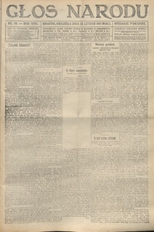 Głos Narodu (wydanie poranne). 1917, nr48
