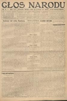 Głos Narodu (wydanie popołudniowe). 1917, nr51