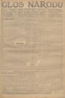 Głos Narodu (wydanie poranne). 1917, nr63