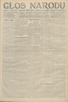 Głos Narodu (wydanie poranne). 1917, nr85