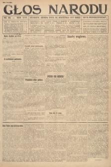 Głos Narodu (wydanie popołudniowe). 1917, nr98