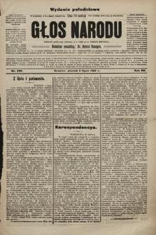 Głos Narodu : dziennik polityczny, założony w r. 1893 przez Józefa Rogosza (wydanie poranne). 1907, nr290