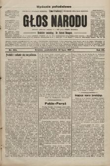 Głos Narodu : dziennik polityczny, założony w r. 1893 przez Józefa Rogosza (wydanie poranne). 1907, nr324