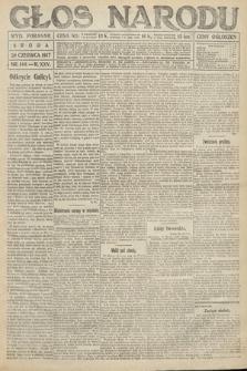 Głos Narodu (wydanie poranne). 1917, nr144