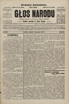 Głos Narodu : dziennik polityczny, założony w r. 1893 przez Józefa Rogosza (wydanie wieczorne). 1907, nr343
