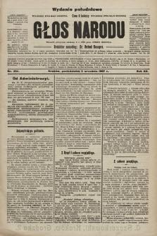 Głos Narodu : dziennik polityczny, założony w r. 1893 przez Józefa Rogosza (wydanie poranne). 1907, nr394