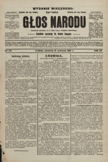 Głos Narodu : dziennik polityczny, założony w r. 1893 przez Józefa Rogosza (wydanie wieczorne). 1907, nr417