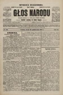 Głos Narodu : dziennik polityczny, założony w r. 1893 przez Józefa Rogosza (wydanie wieczorne). 1907, nr481