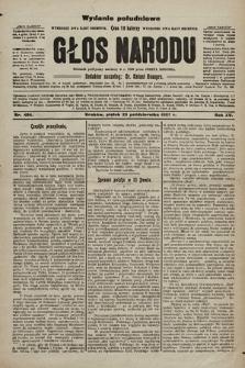Głos Narodu : dziennik polityczny, założony w r. 1893 przez Józefa Rogosza (wydanie poranne). 1907, nr486